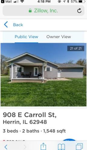 Home For Sale By Owner, 908 E Carroll St, Herrin, IL, 62948